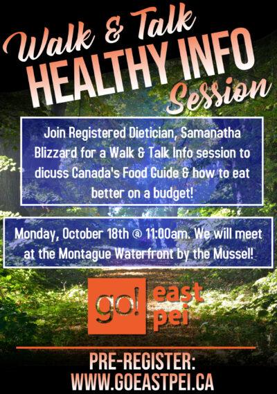Walk & Talk Healthy Info Session